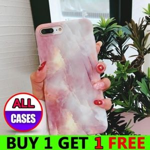 Accessories - *NEW iPhone Max/XR/XS/X/7/8/Plus Pink Marble Case
